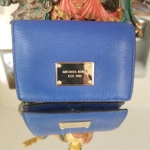 Micheal kors small Blue Leather wallet